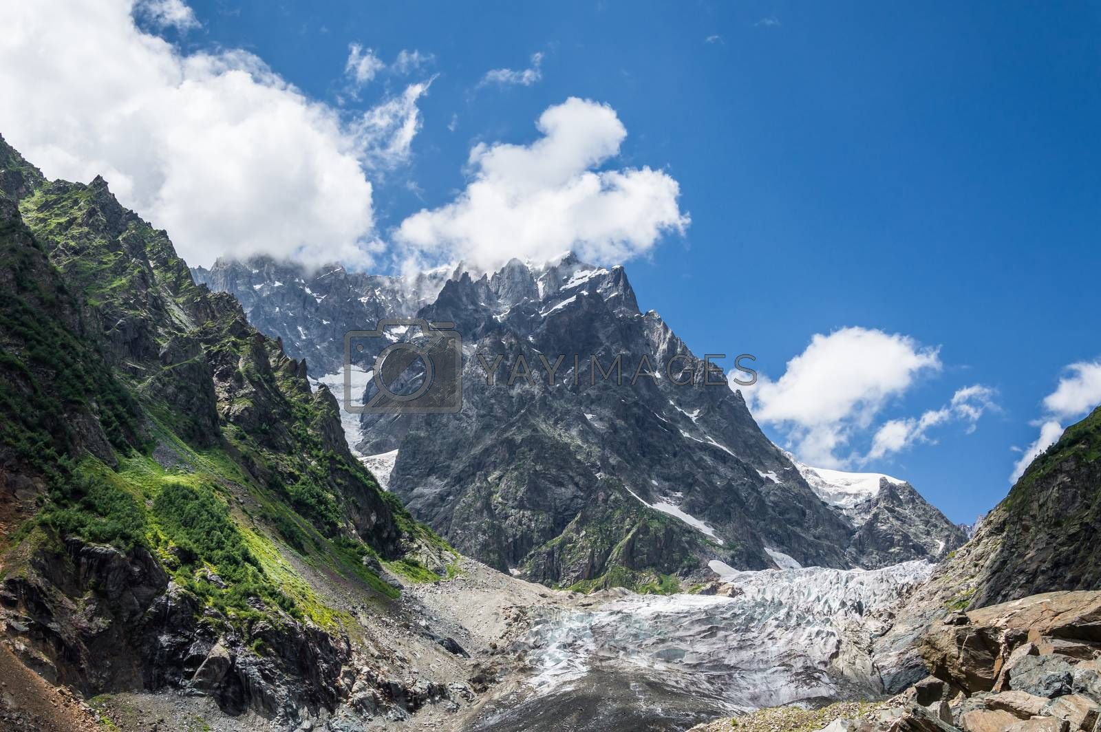 Royalty free image of Glacier in mountain by firewings