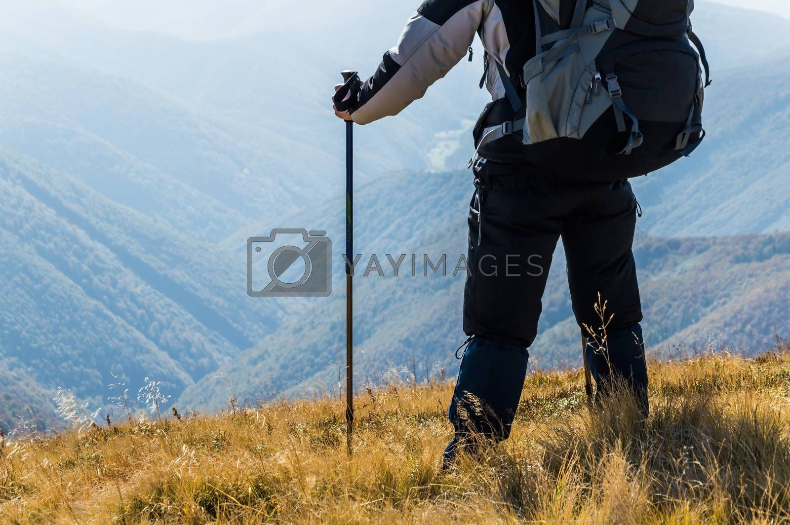 Royalty free image of Traveler in the mountains by firewings