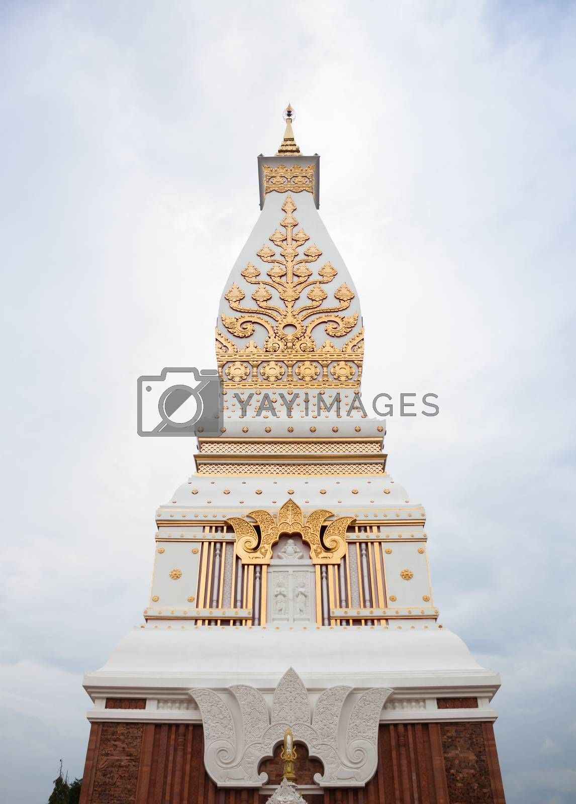 Phra That Phanom pagoda in Wat Phra That Phanom, Nakhon Phanom, Thailand, stock photo