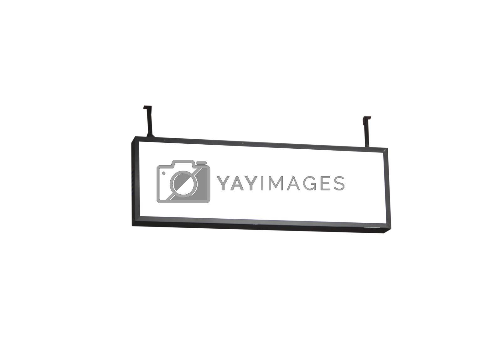 Blank billboard on white background, stock photo