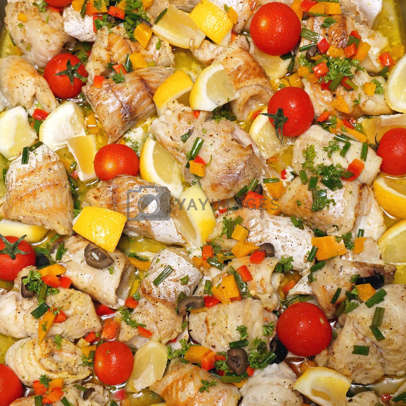 Cod Fish Filets With Herbs Salad
