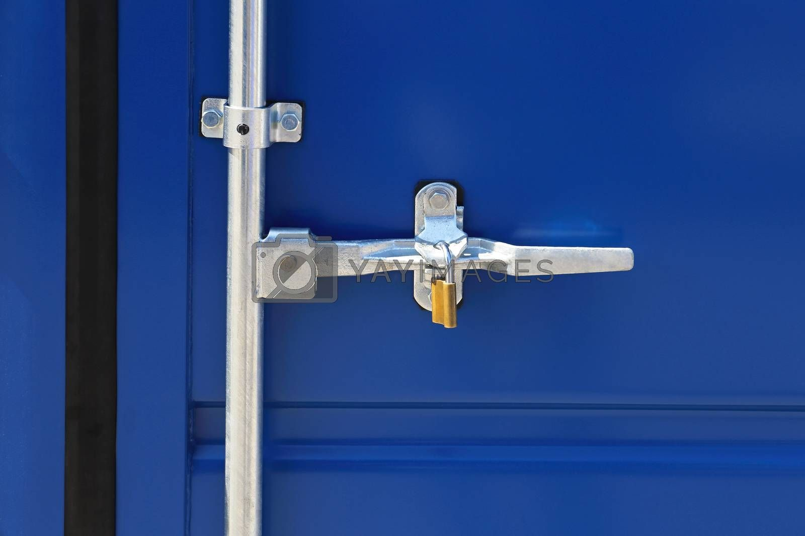 Closed Container Door Latch With Padlock