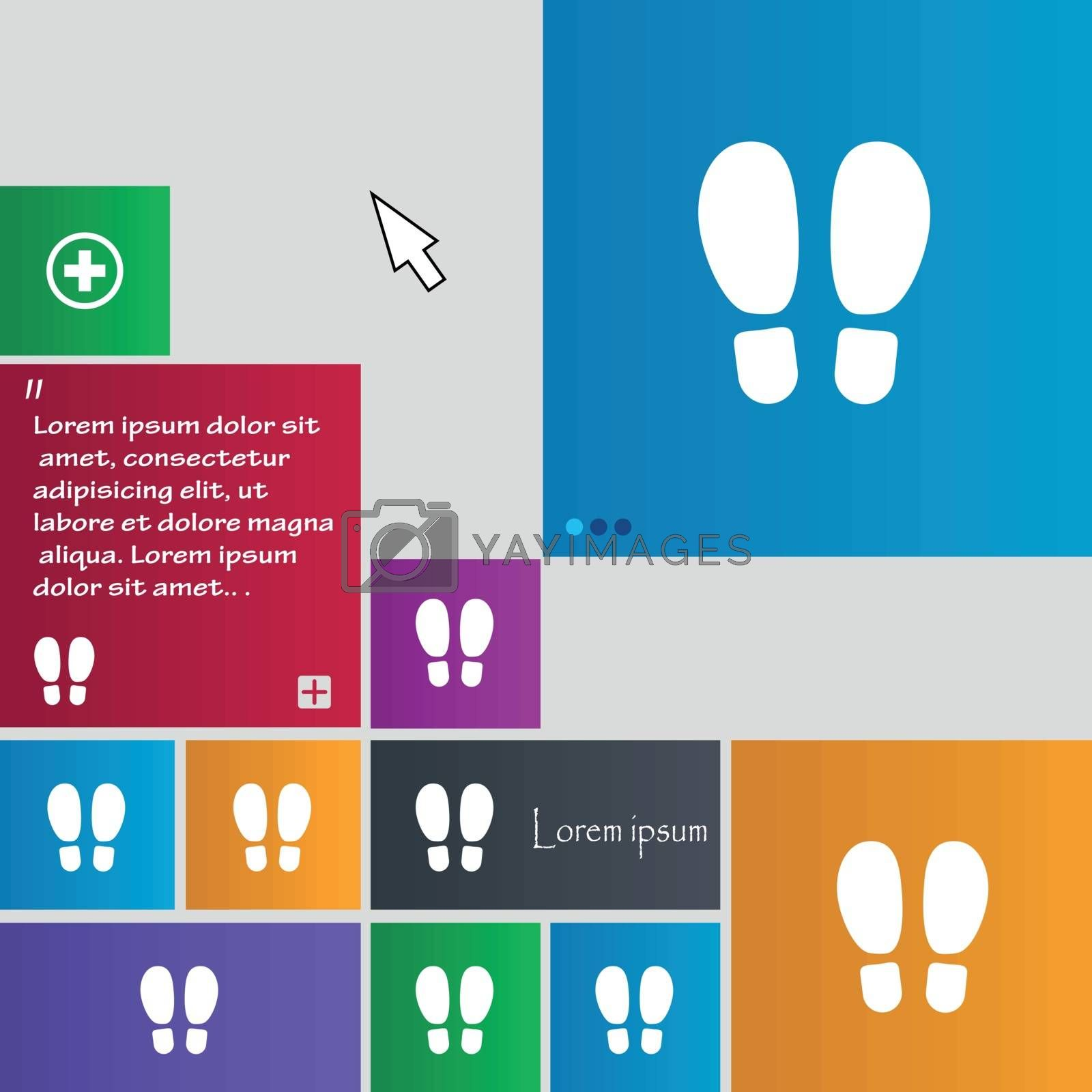 Food step Icon sign. buttons. Modern interface website buttons with cursor pointer. Vector illustration
