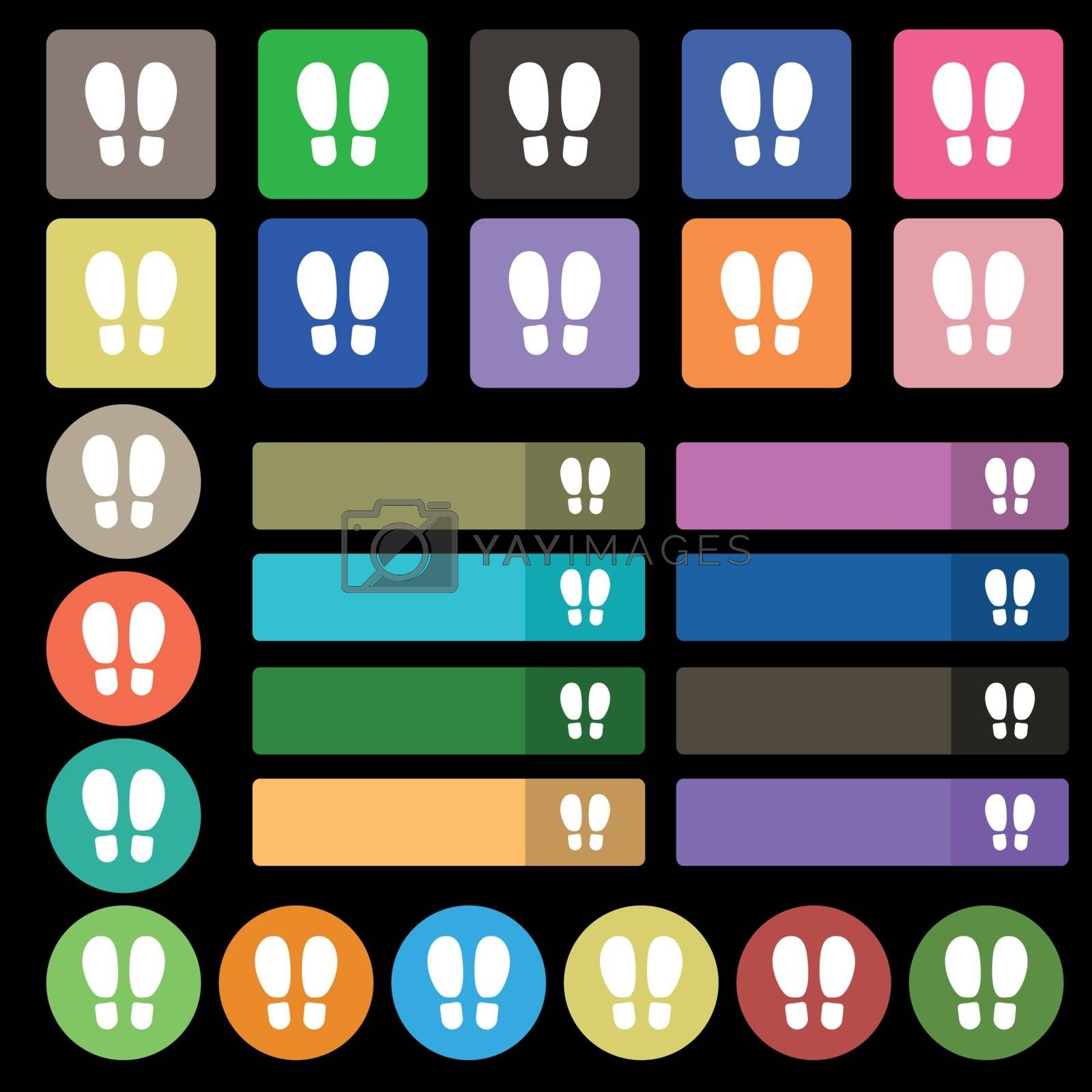 Food step Icon sign. Set from twenty seven multicolored flat buttons. Vector illustration