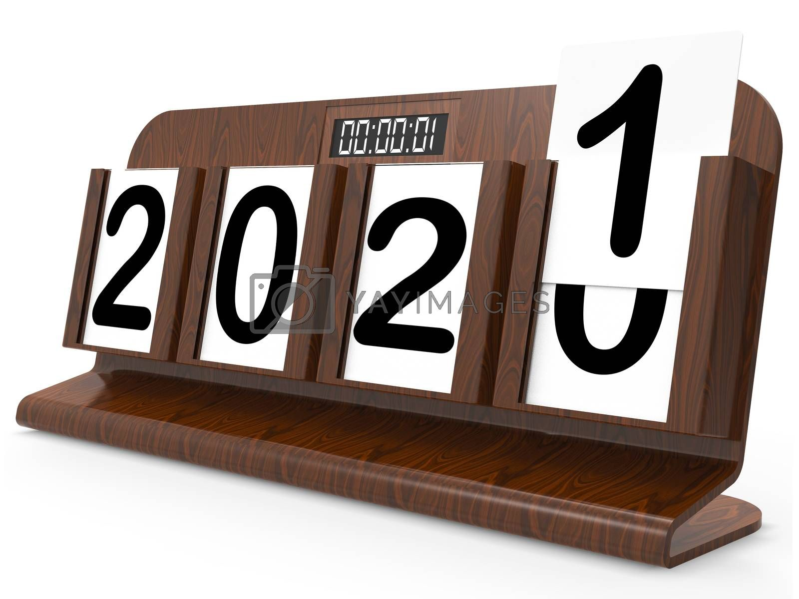 Twenty Twenty One Showing 2021 New Year 3d Rendering