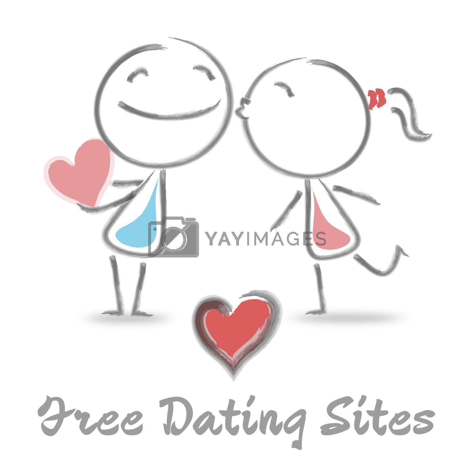 Free Dating Sites Representing Internet Love And Romance