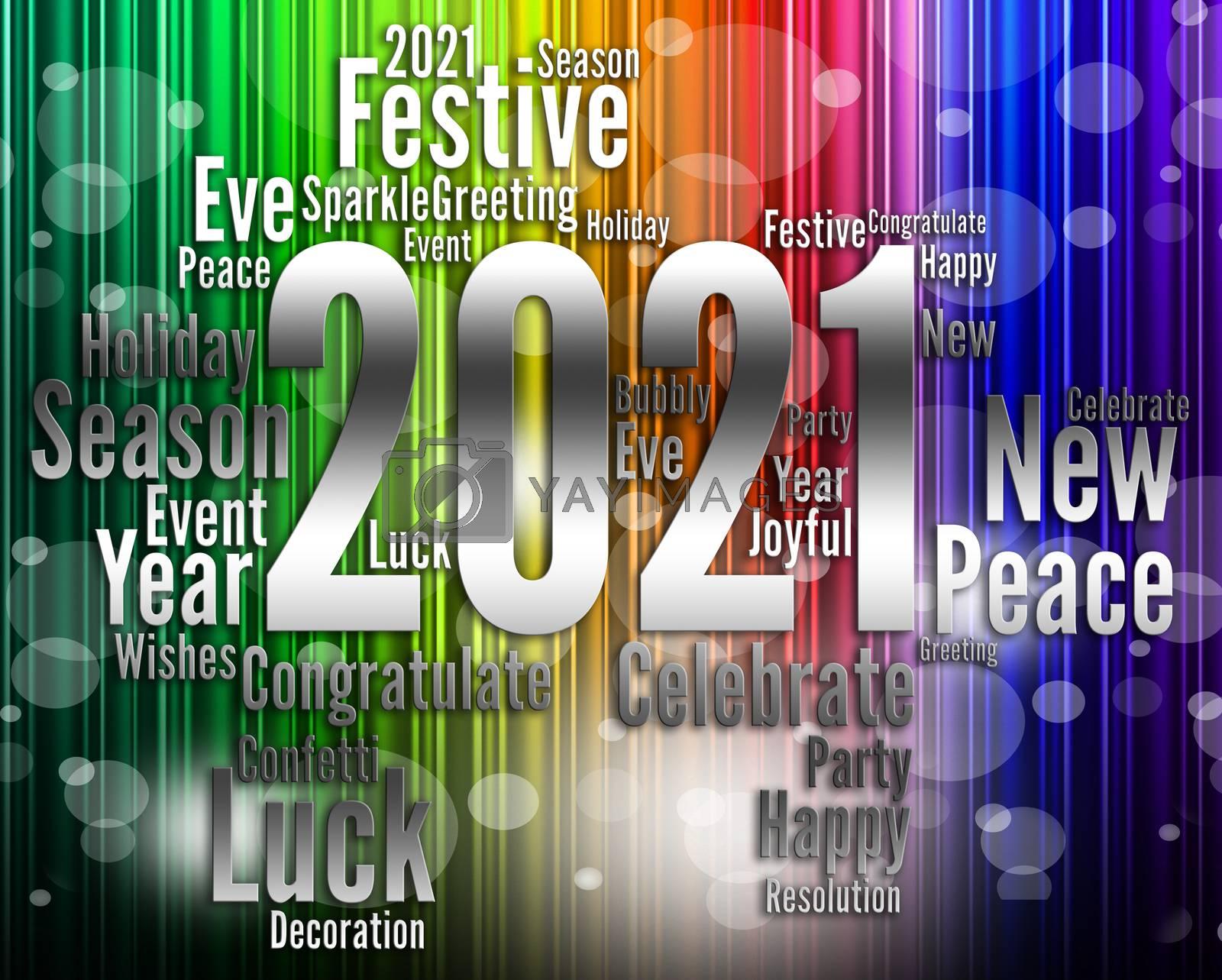 Twenty Twenty One Showing 2021 New Year Celebrating