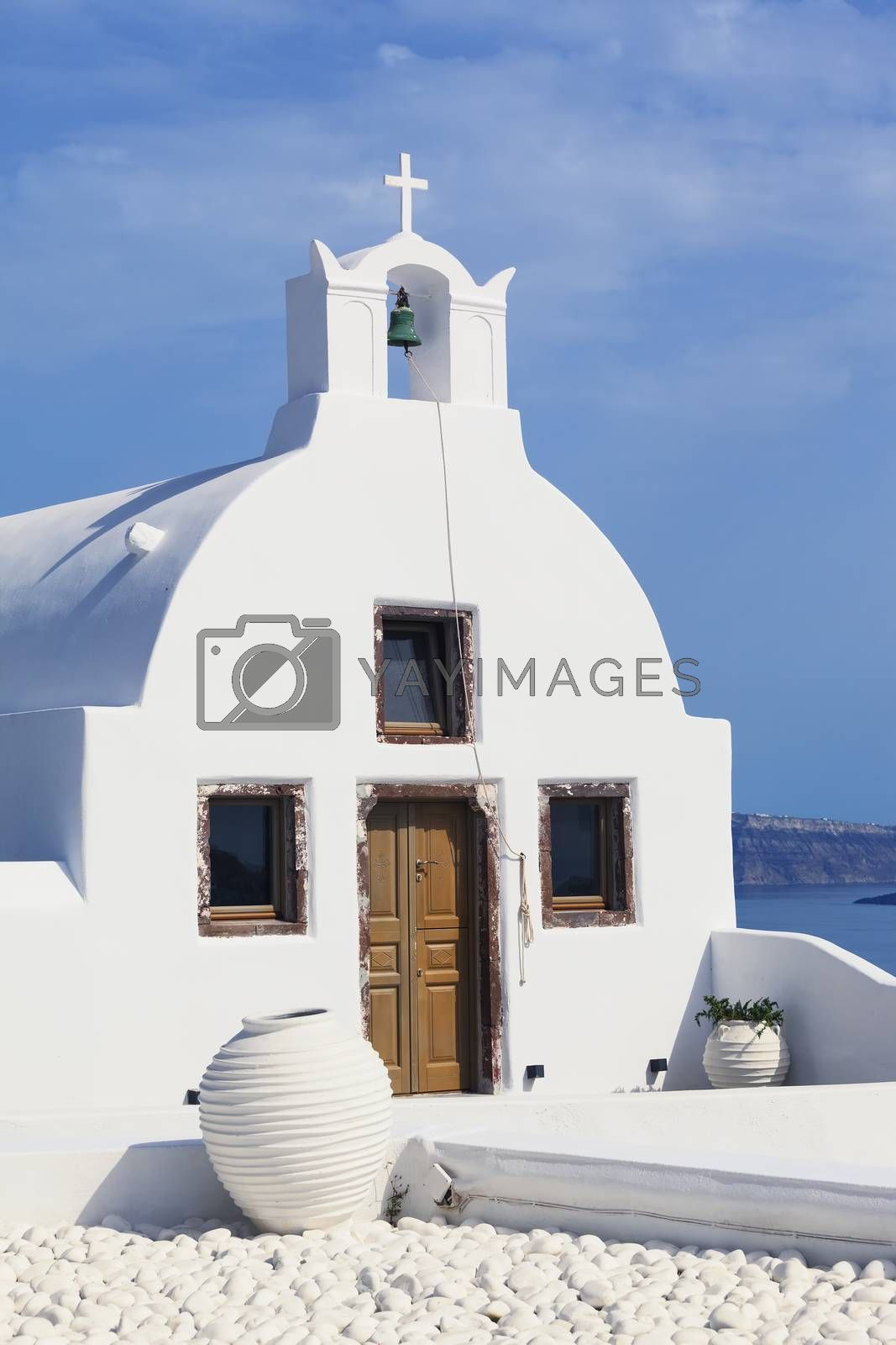 Traditional Greek Orthodox church in Oia, Santorini