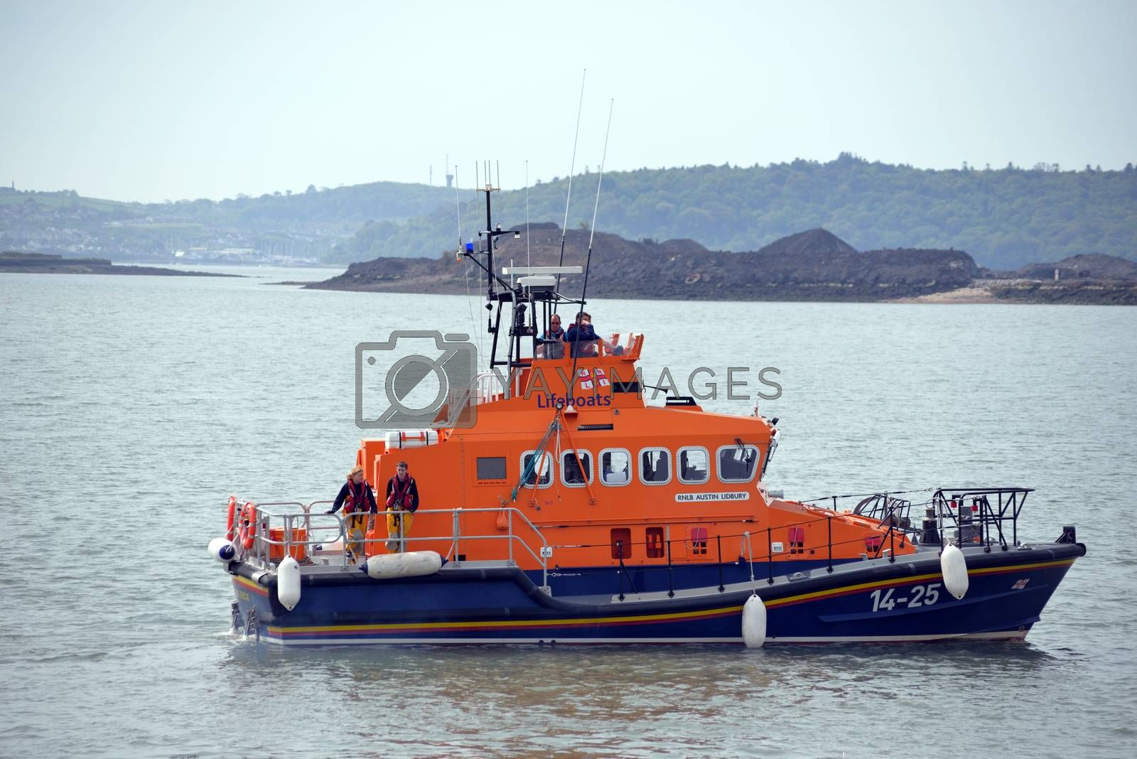rescue lifeboat in cobh harbour county cork ireland