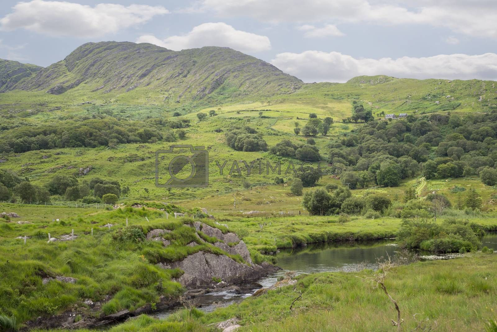 river and lake on the kerry way by morrbyte