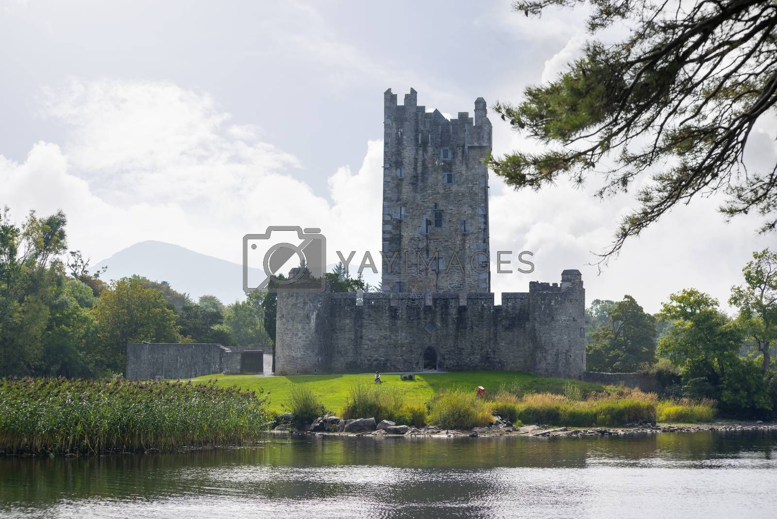 ross castle on the lakes of killarney by morrbyte