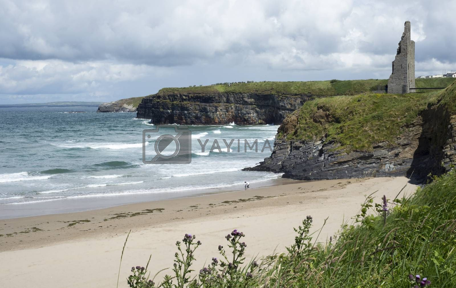 scenic view of ballybunion beach by morrbyte
