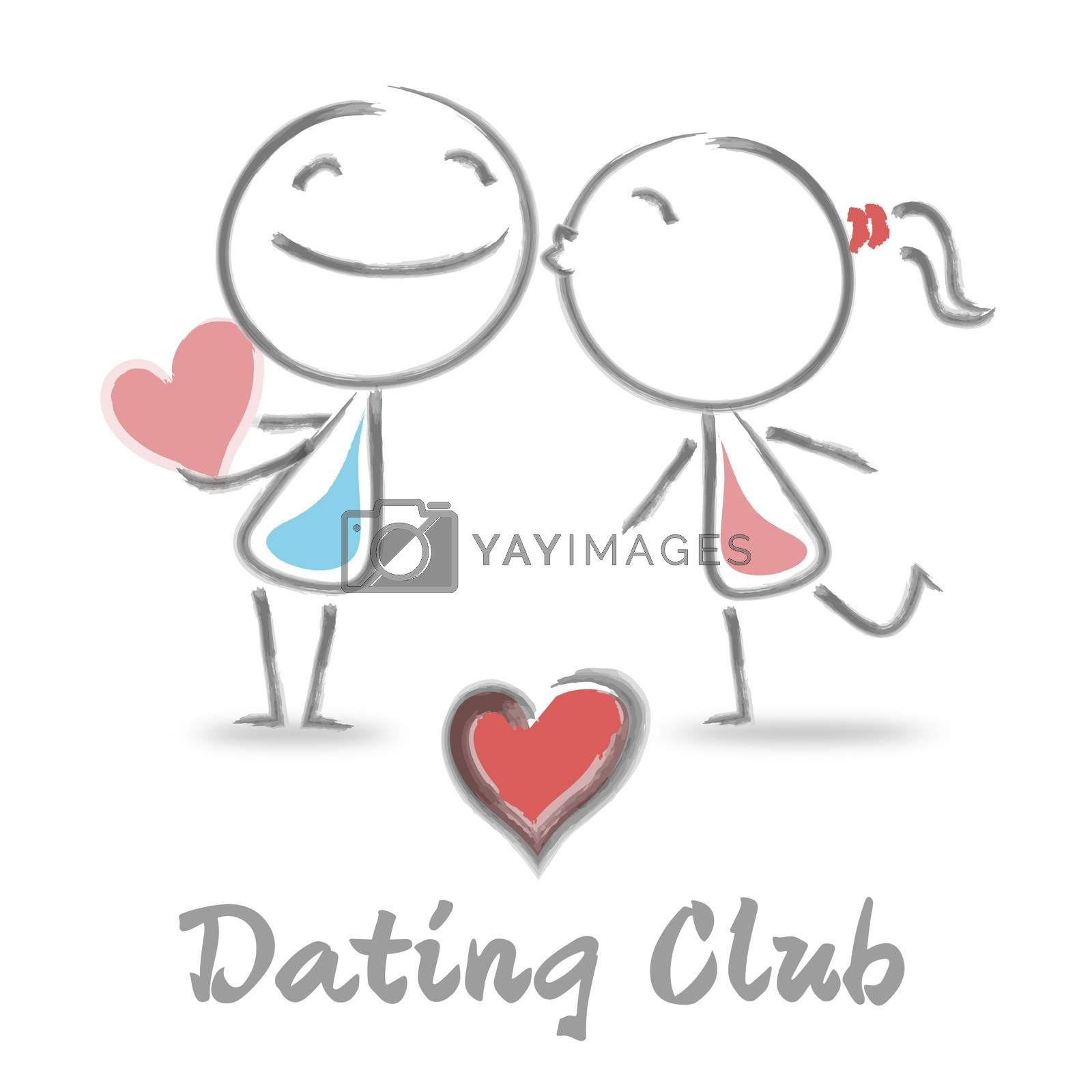 Dating Club Showing Sweethearts And Online Romance