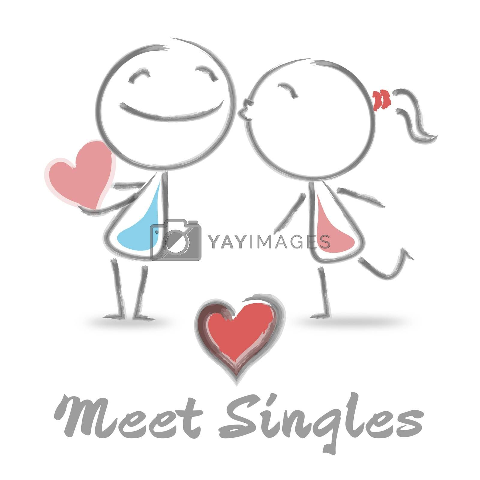Meet Singles Indicating Find Love And Romance