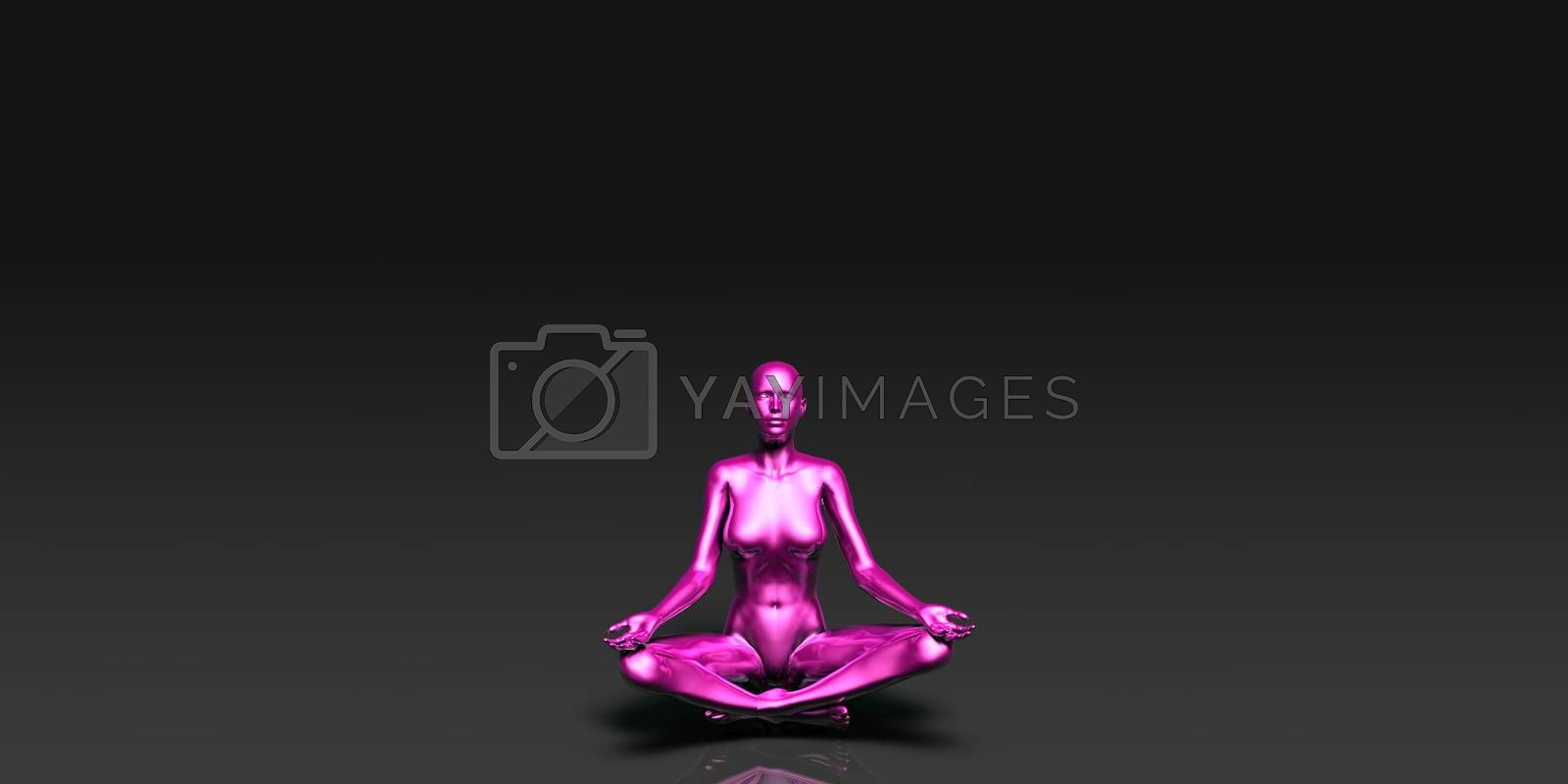 Yoga Class, the Lotus Position Basic Pose Stance