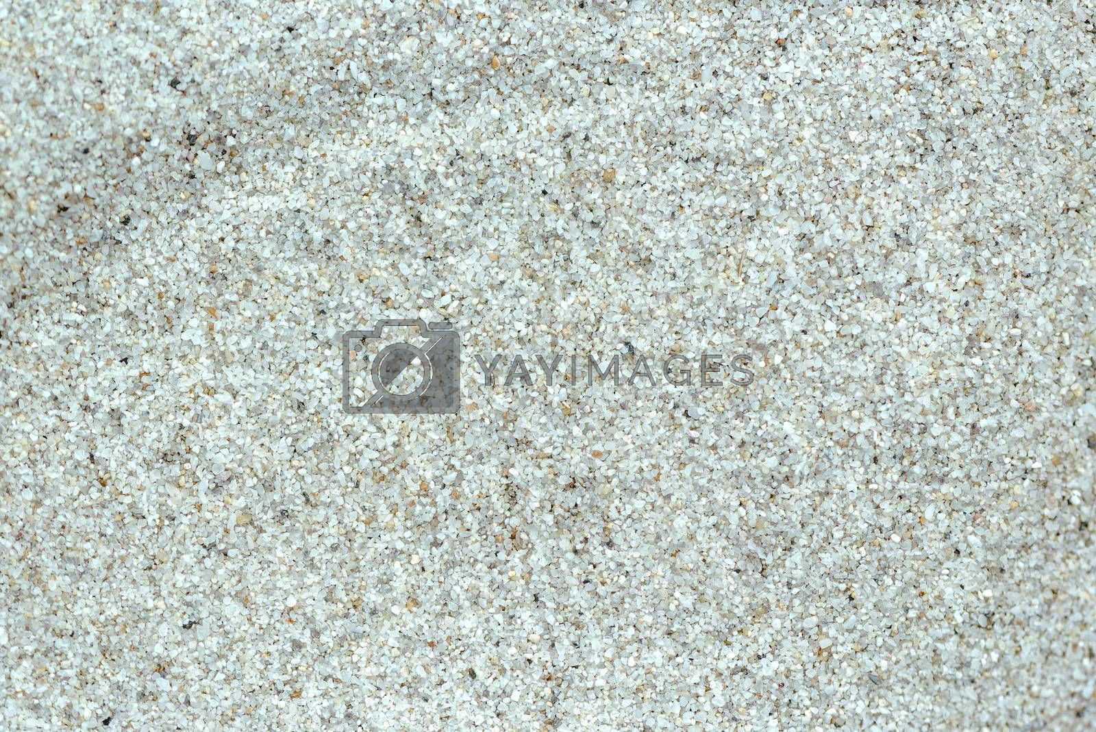 Quartz sand texture, full frame top view of sandy background
