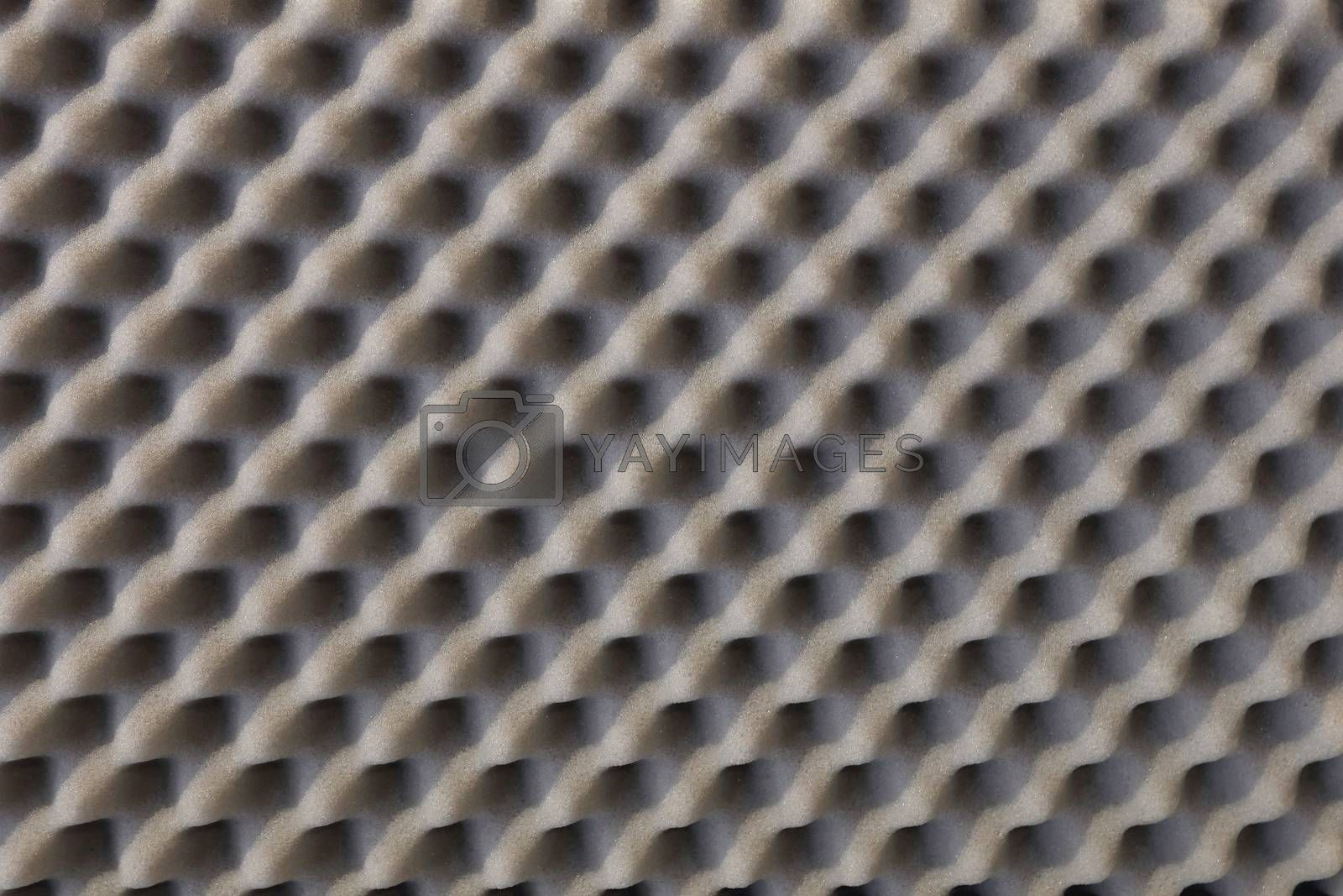 Sound absorbing sponge isolation for studio