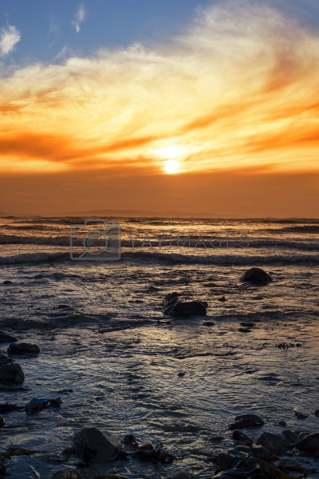 ripples at rocky beal beach by morrbyte