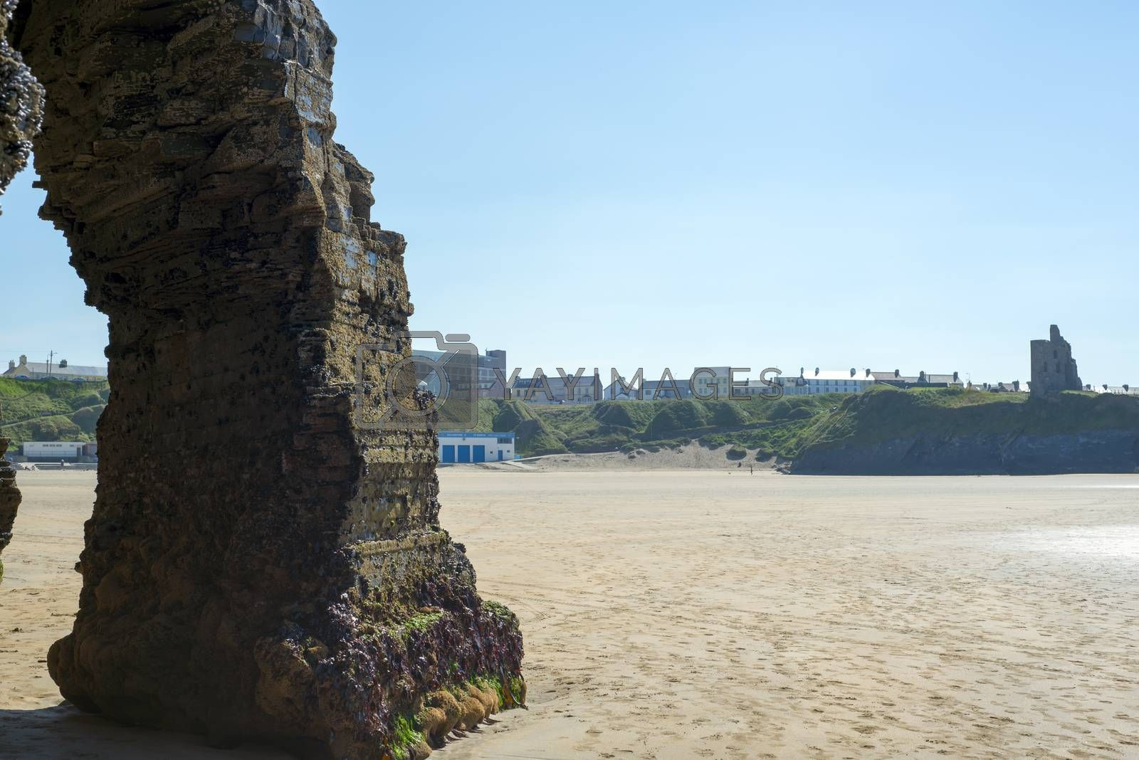 rock formation at the ballybunion cliffs by morrbyte