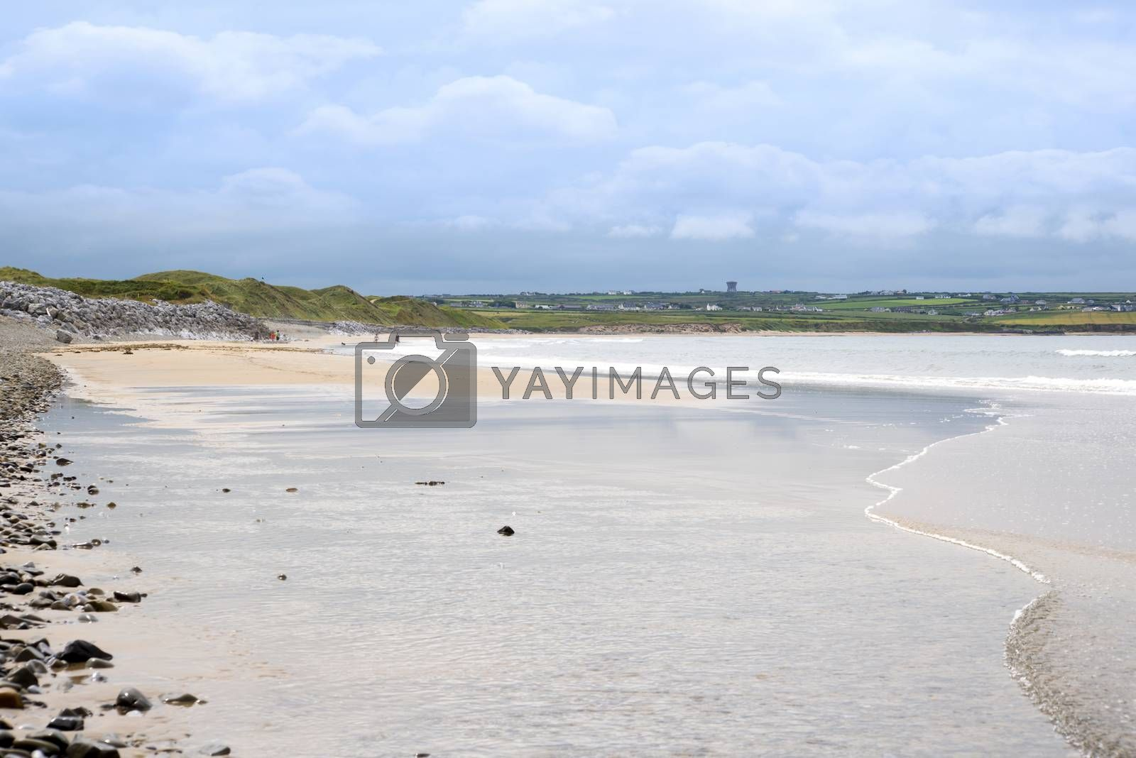 sandy beach beside the links golf course by morrbyte