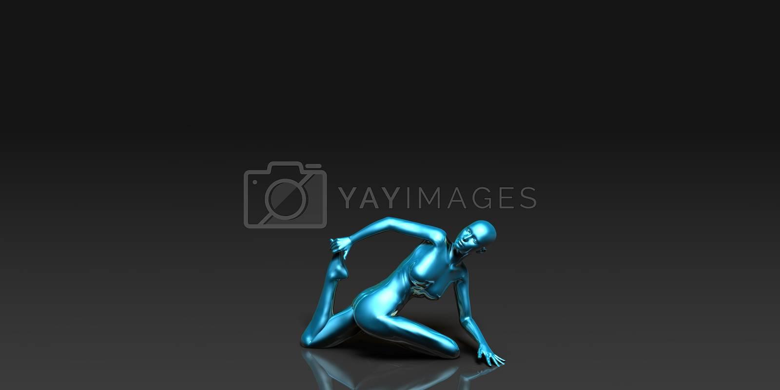 Yoga Class, the Spine Twist Basic Pose Stance
