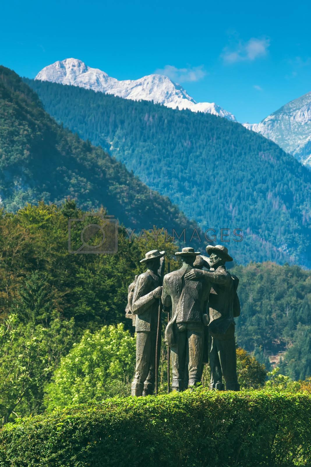 Four brave men from Bohinj - the first men on Triglav by stevanovicigor
