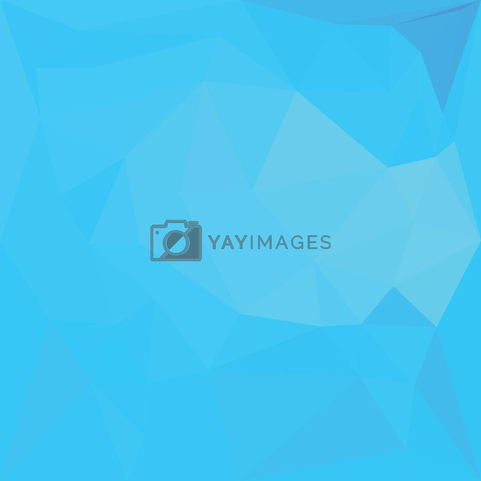 Low polygon style illustration of a dark turquoise abstract geometric background.