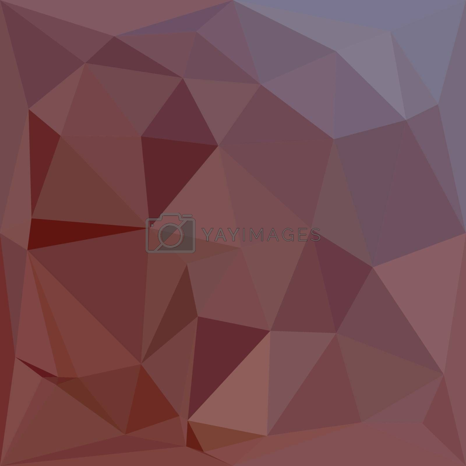 Low polygon style illustration of an indian red abstract geometric background.