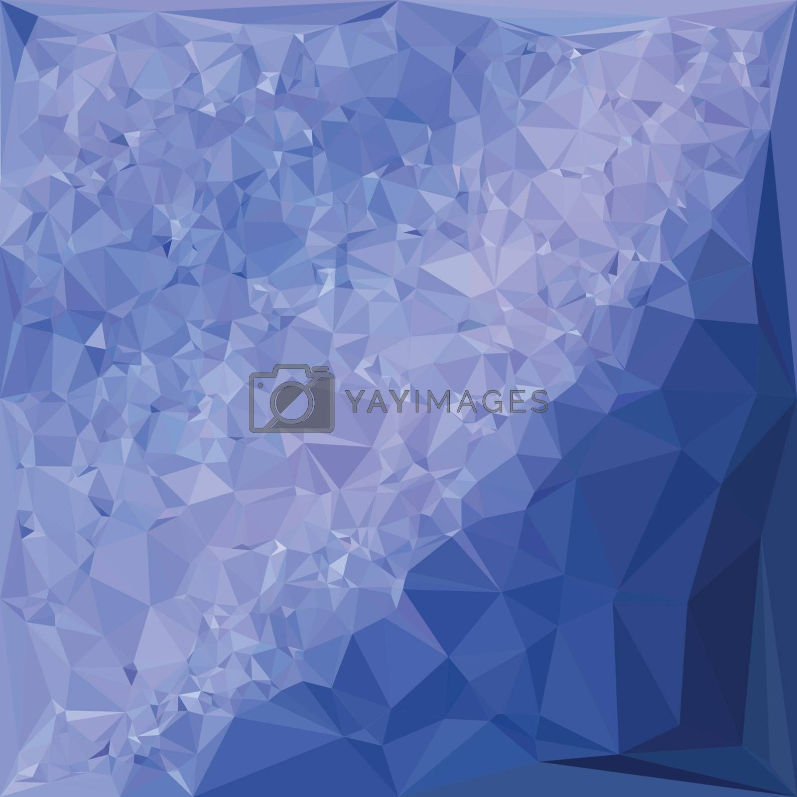 Low polygon style illustration of a steel blue abstract geometric background.