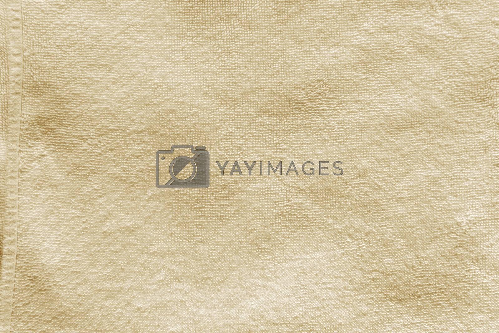 Beige towel texture, high resolution detailed background