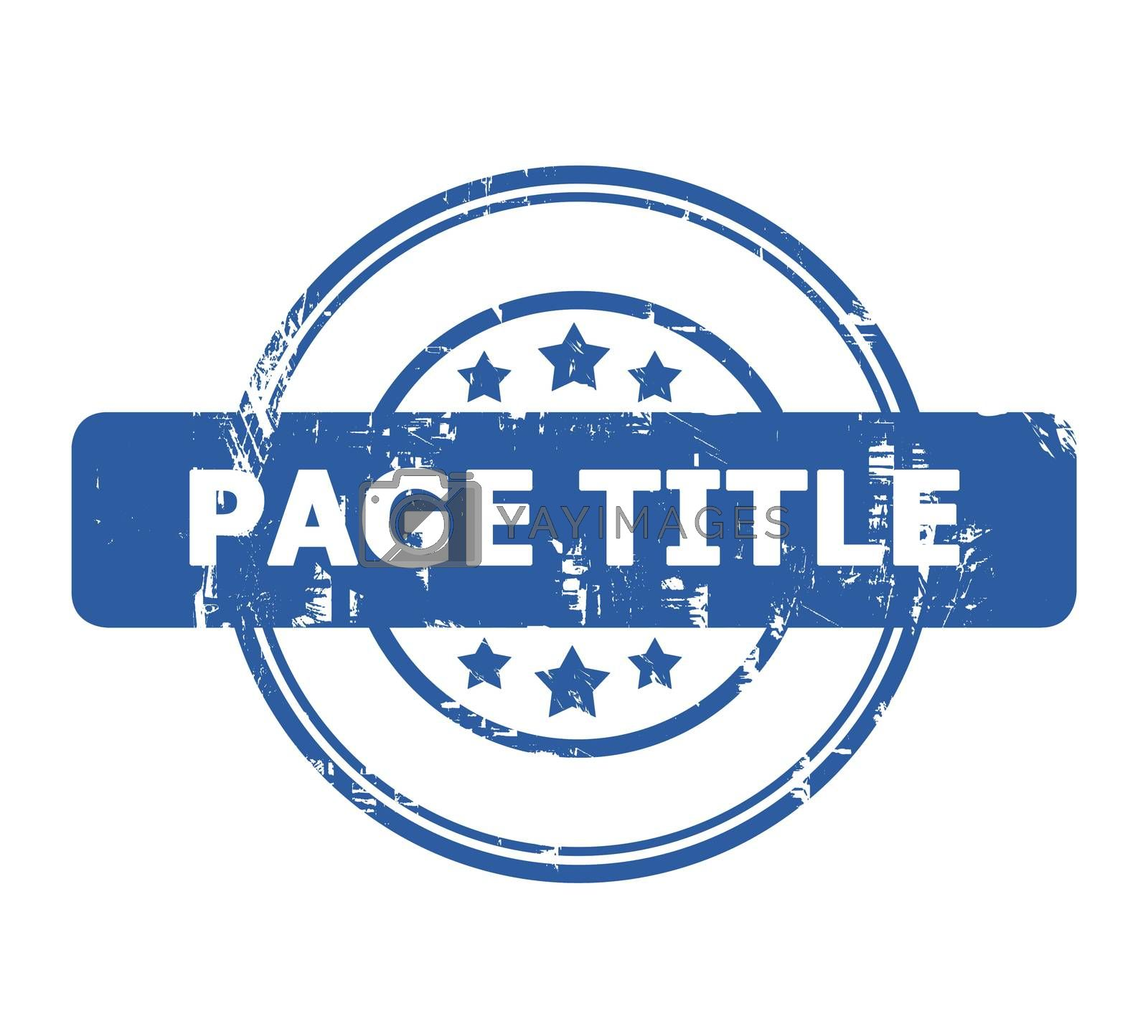 Royalty free image of Page Title Stamp by speedfighter