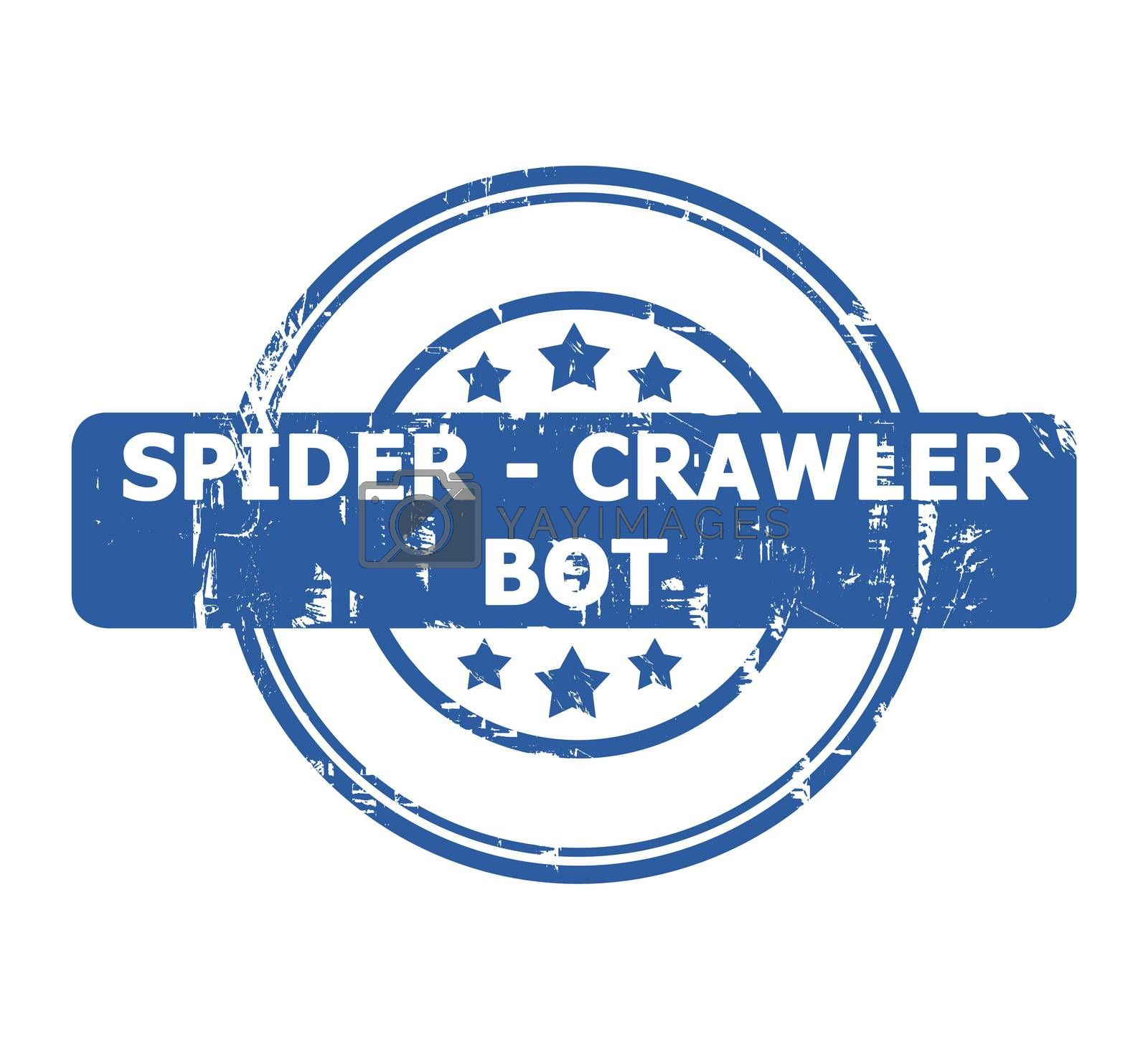Royalty free image of Spider Crawler Bot Stamp by speedfighter