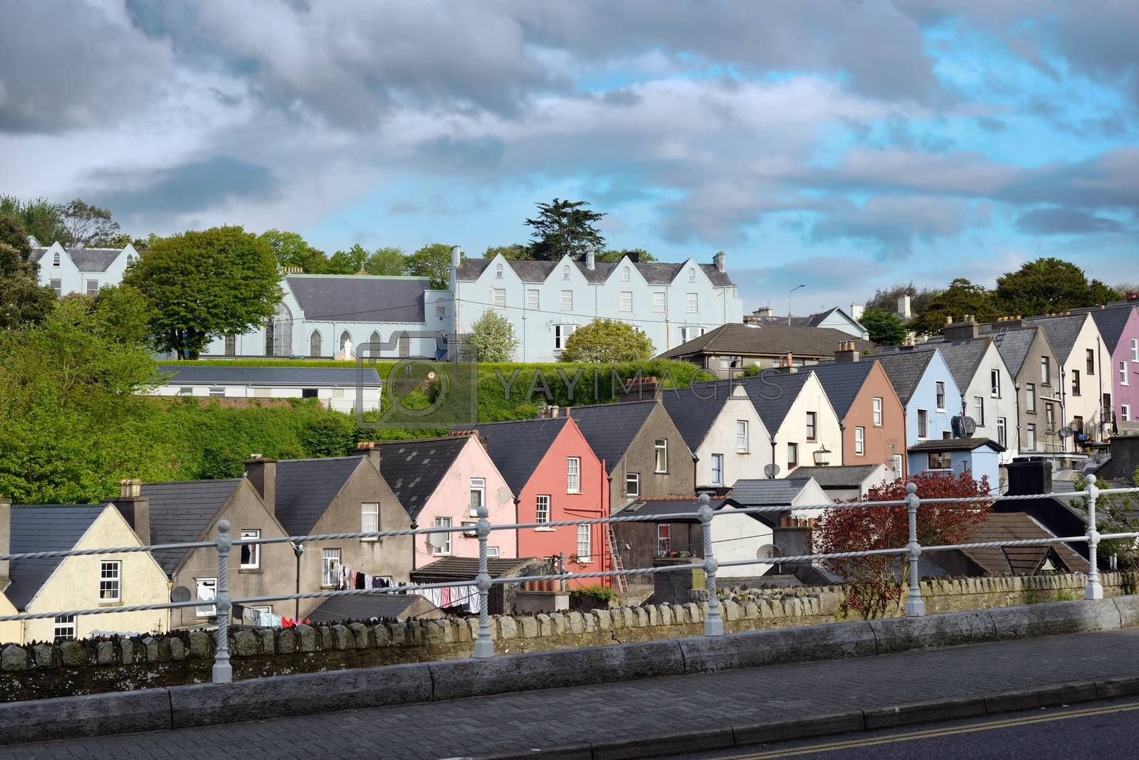 view of a cobh town street in county cork  by morrbyte