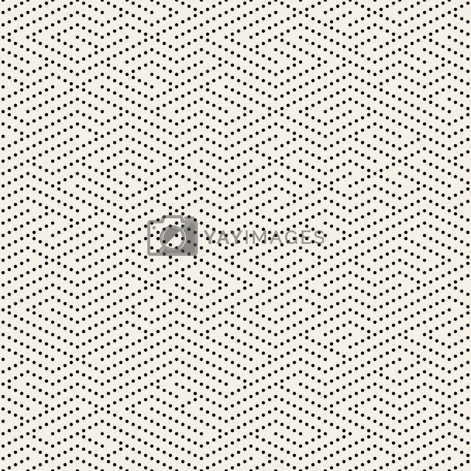 Vector Seamless Black and White Dotted Lines Maze Pattern. Abstract Geometric Background Design