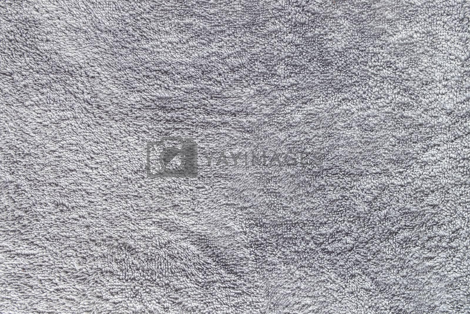 Gray towel texture, clean bath cloth as background