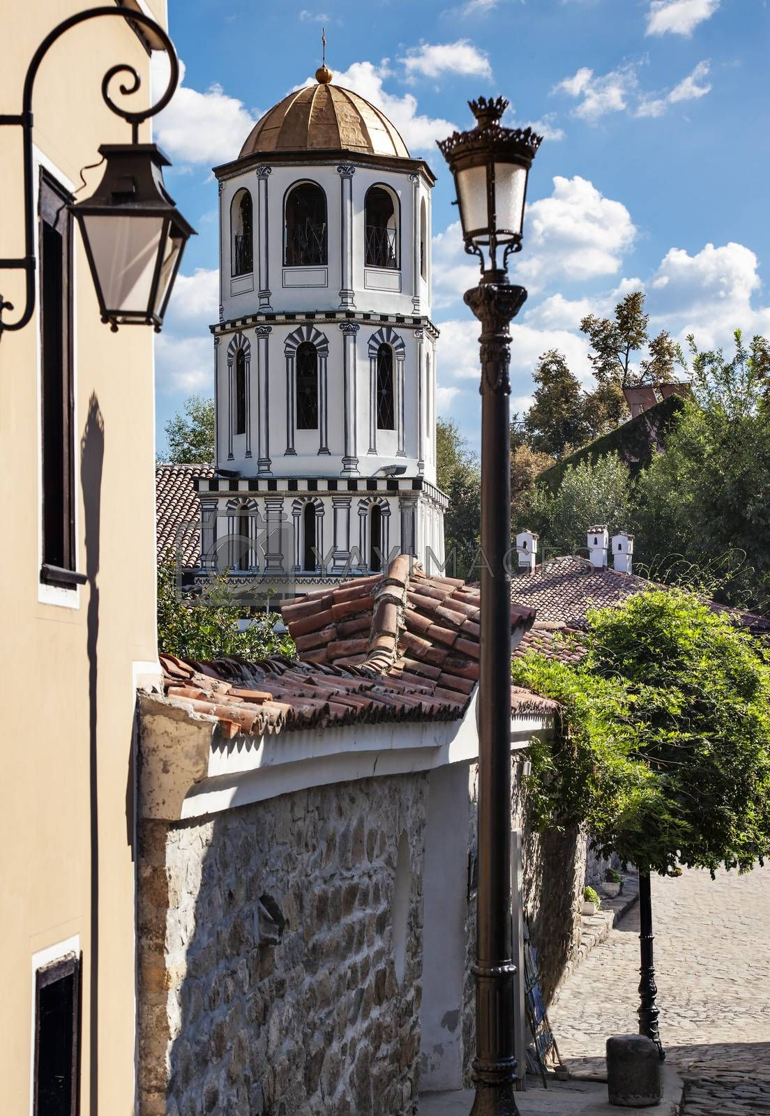 St. St. Constantine and Helena church view in old town of Plovdiv, Bulgaria, Europe.