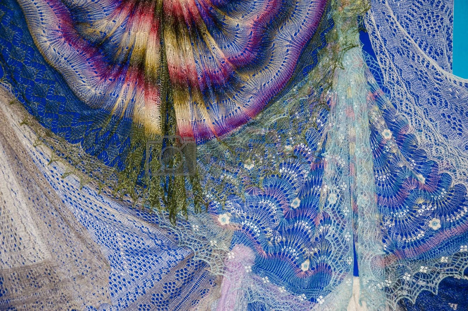 Royalty free image of Patterns of the Orenburg downy shawl by 0608195706081957