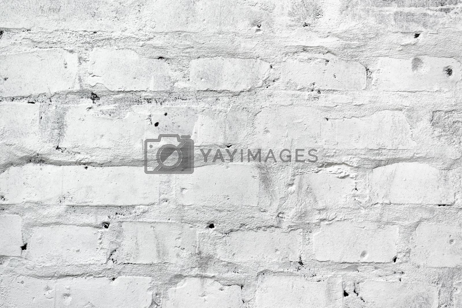 White brickwork as texture, brick wall background