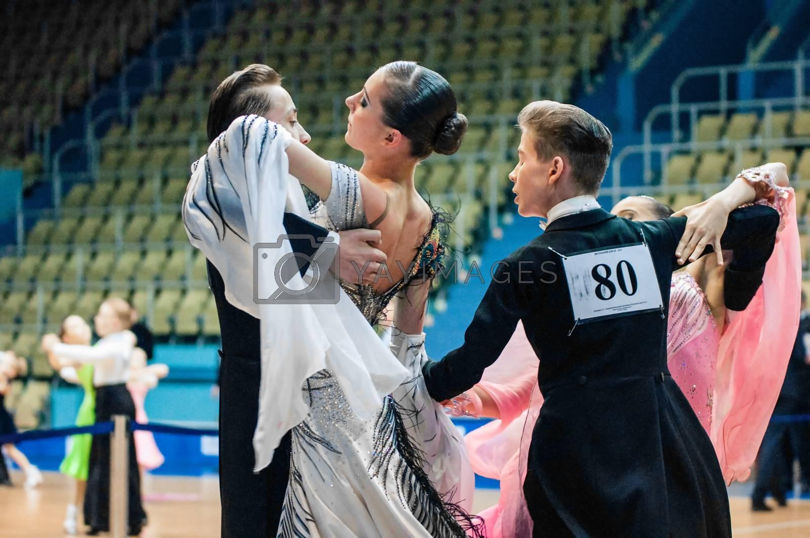 Orenburg, Russia - 24 May 2015: Girl and boy dancing by vladimirvasil
