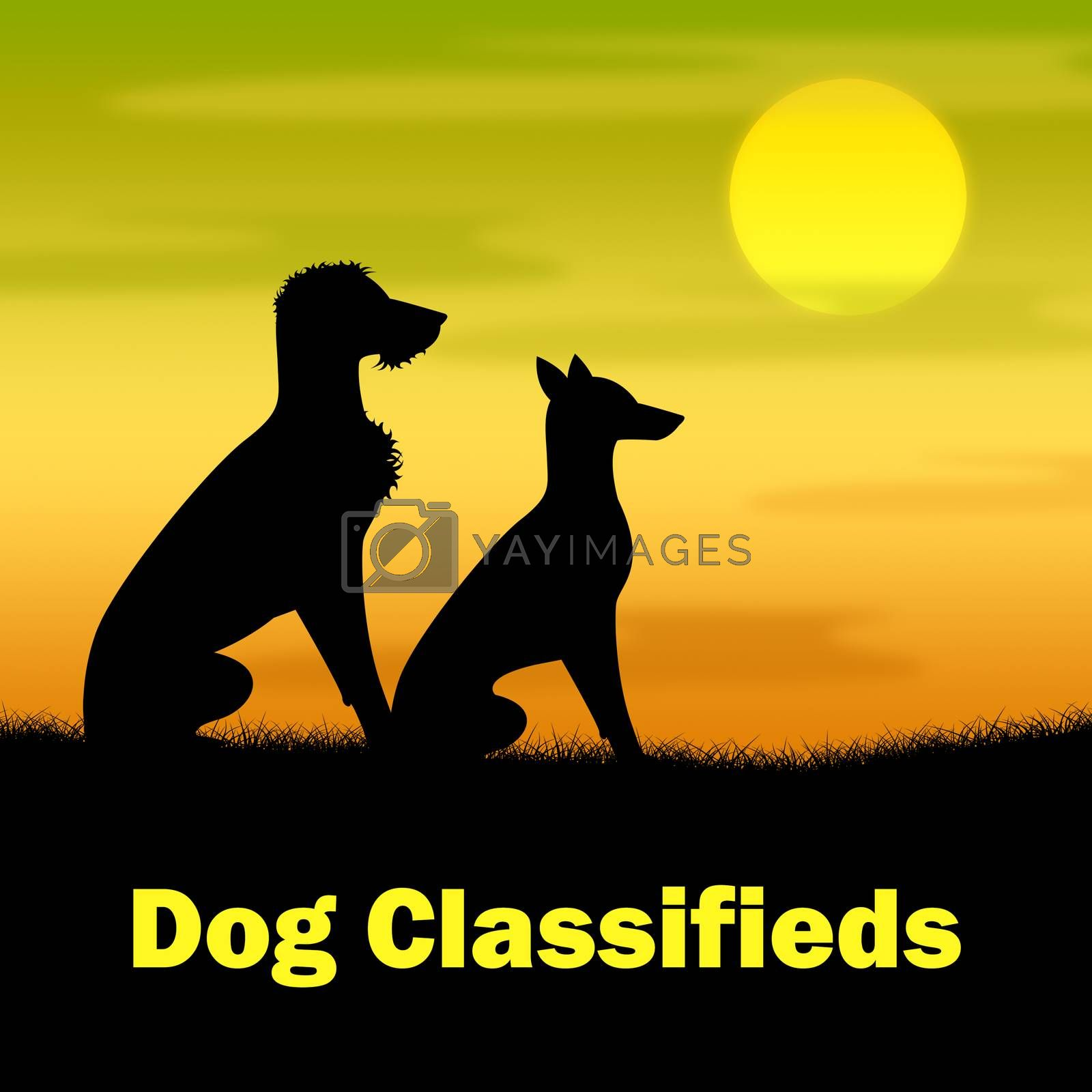 Dog Classifieds Meaning Evening Newspaper And Pasture