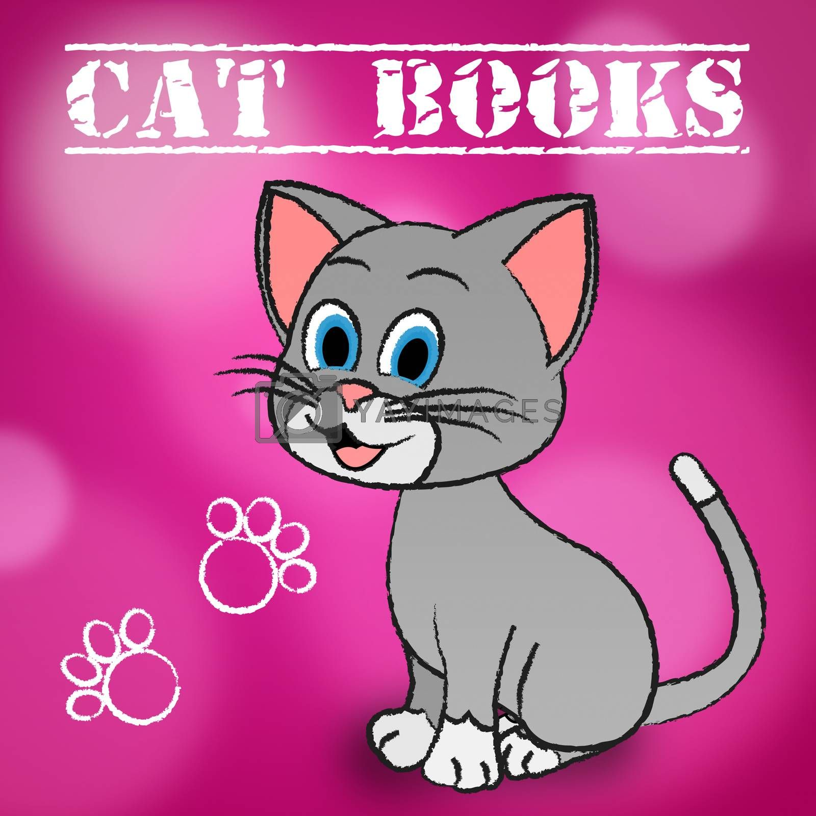 Cat Books Showing Education Learning And Kitten