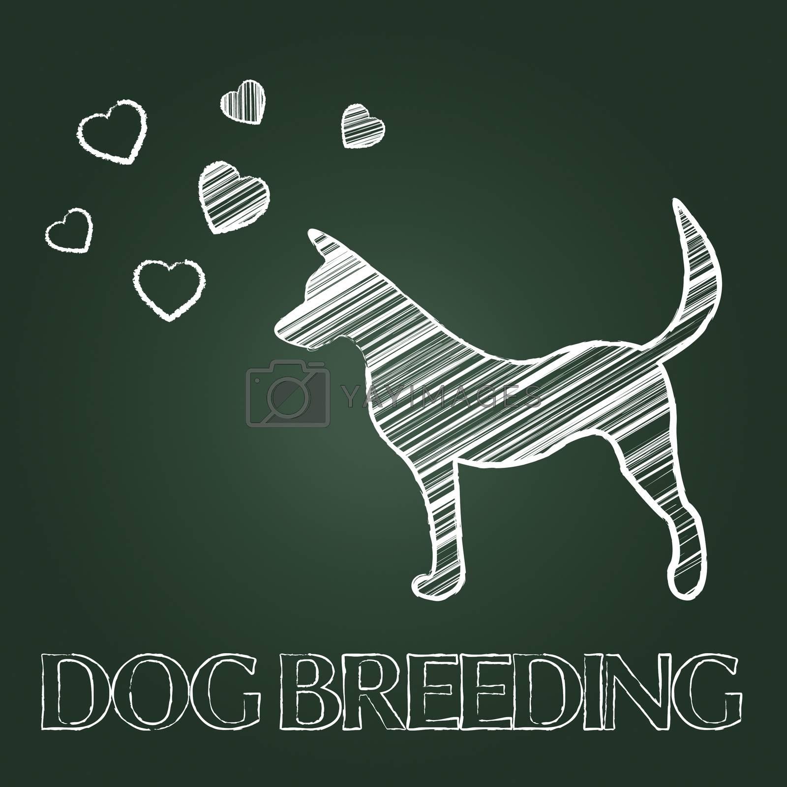 Dog Breeding Indicating Doggy Mate And Pedigree