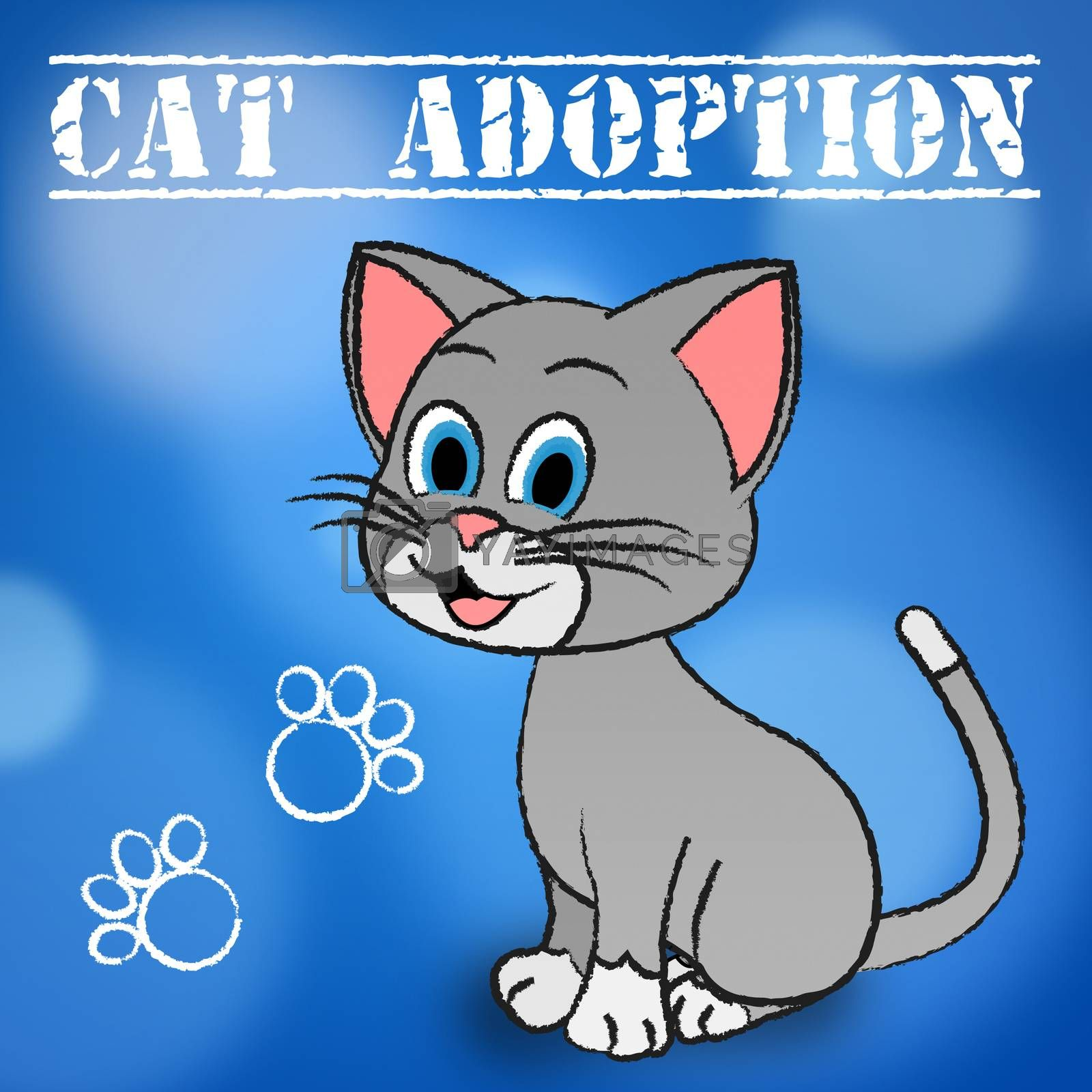 Cat Adoption Showing Feline Adopted And Pets
