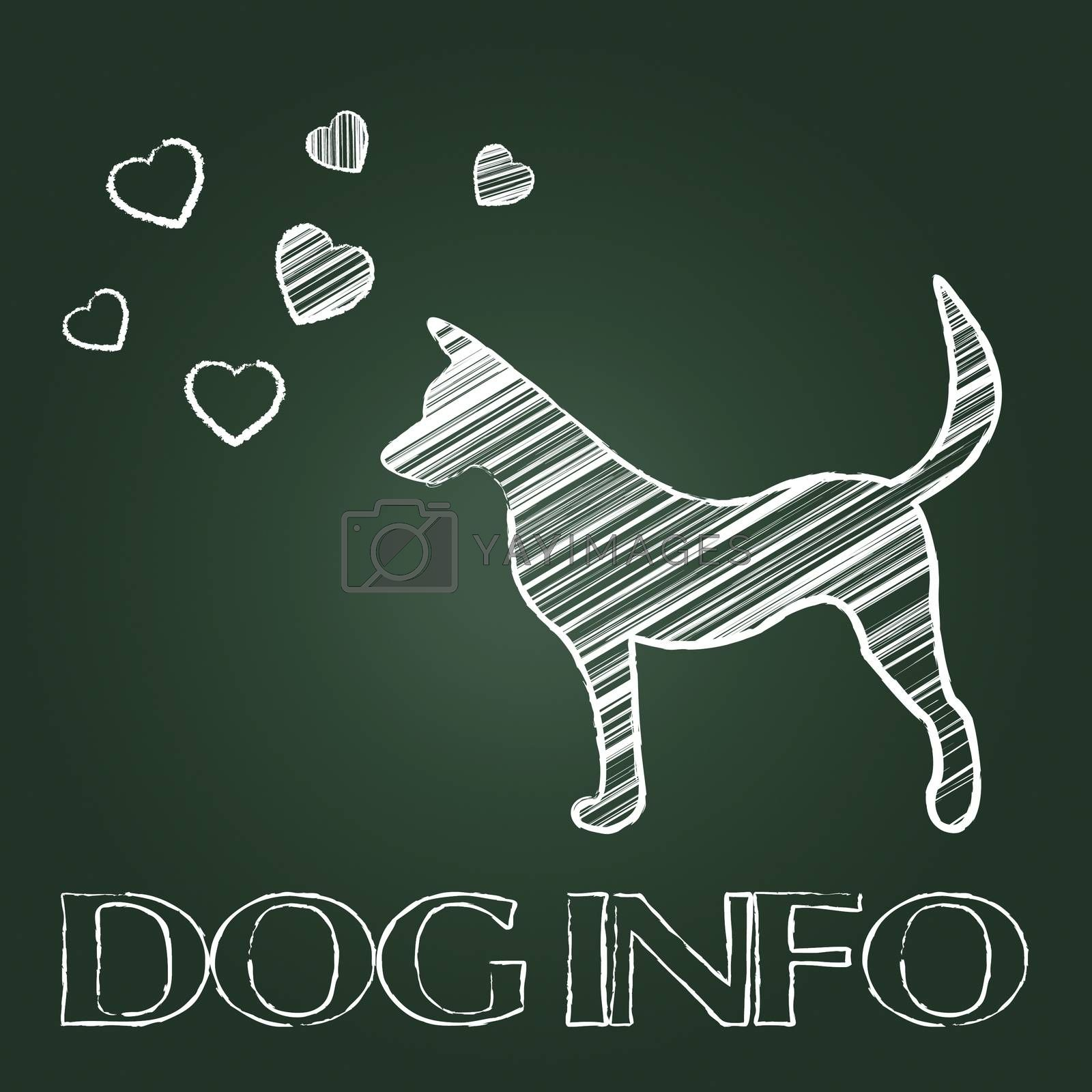 Dog Info Showing Inform Doggy And Support