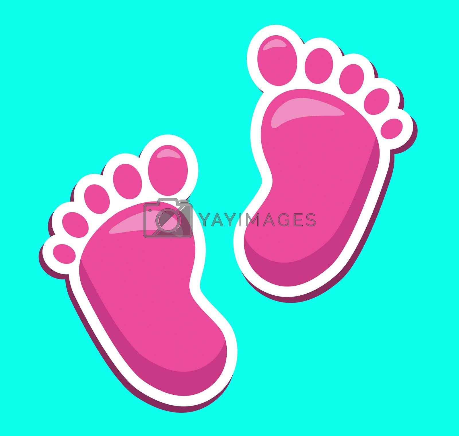 Baby Feet Showing Parenthood Barefoot And Infant