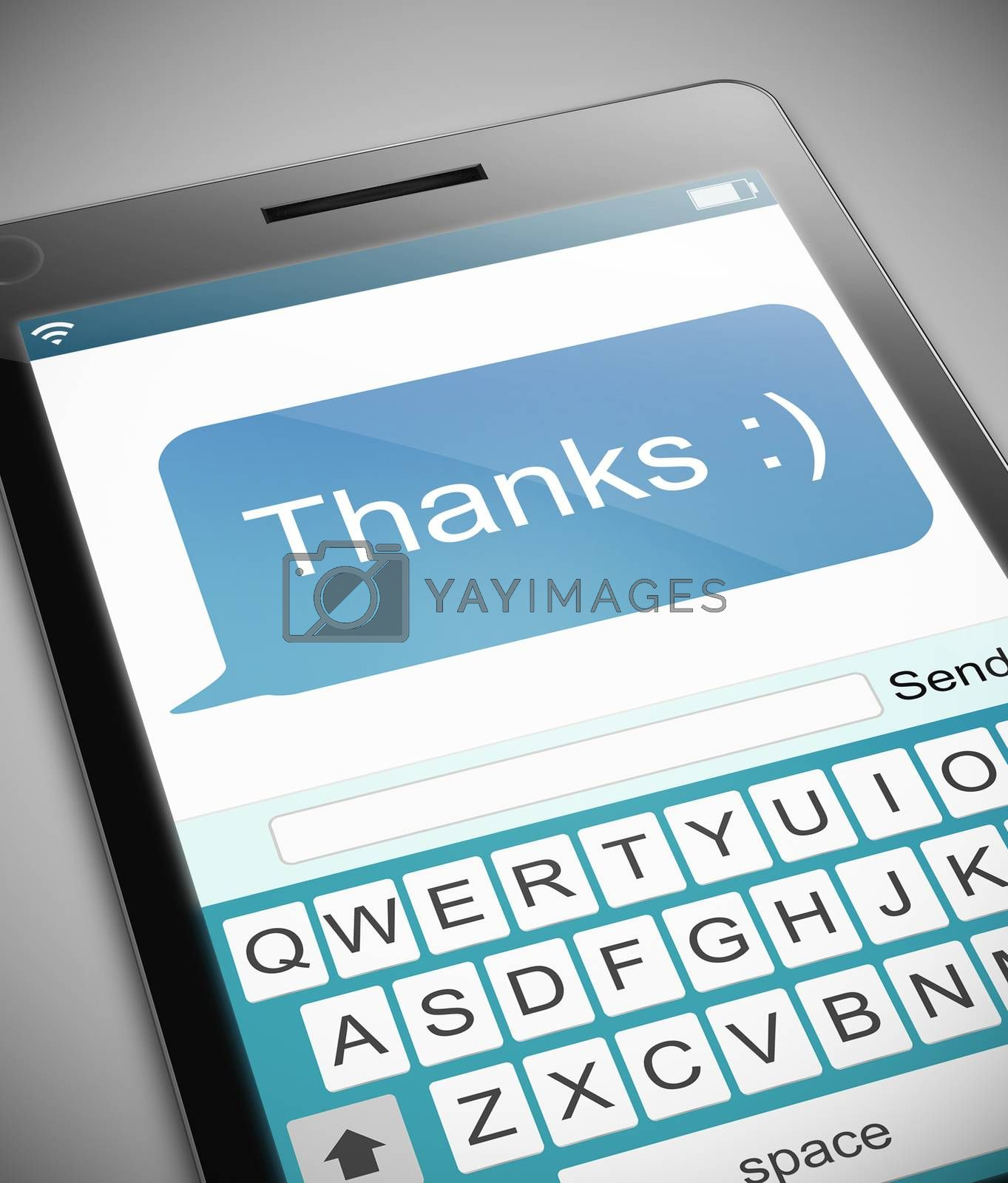 Thanks text message concept. by 72soul