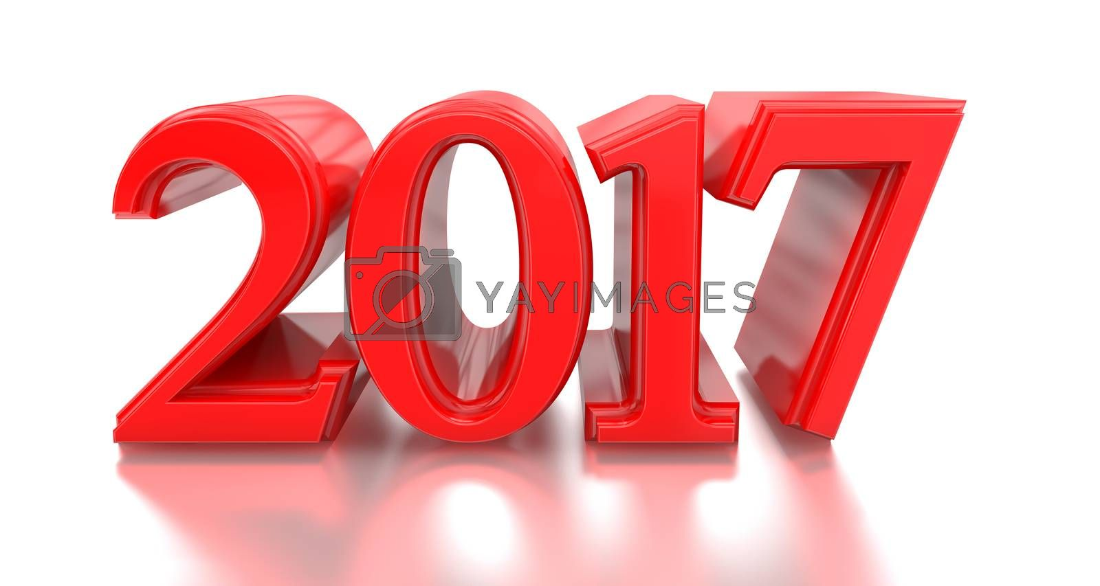 3d 2017. 2016-2017 change represents the new year 2017, three-dimensional rendering