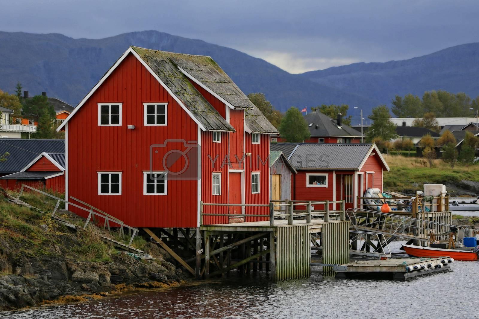 Brygge ved Salhussundet i Brønnøysund