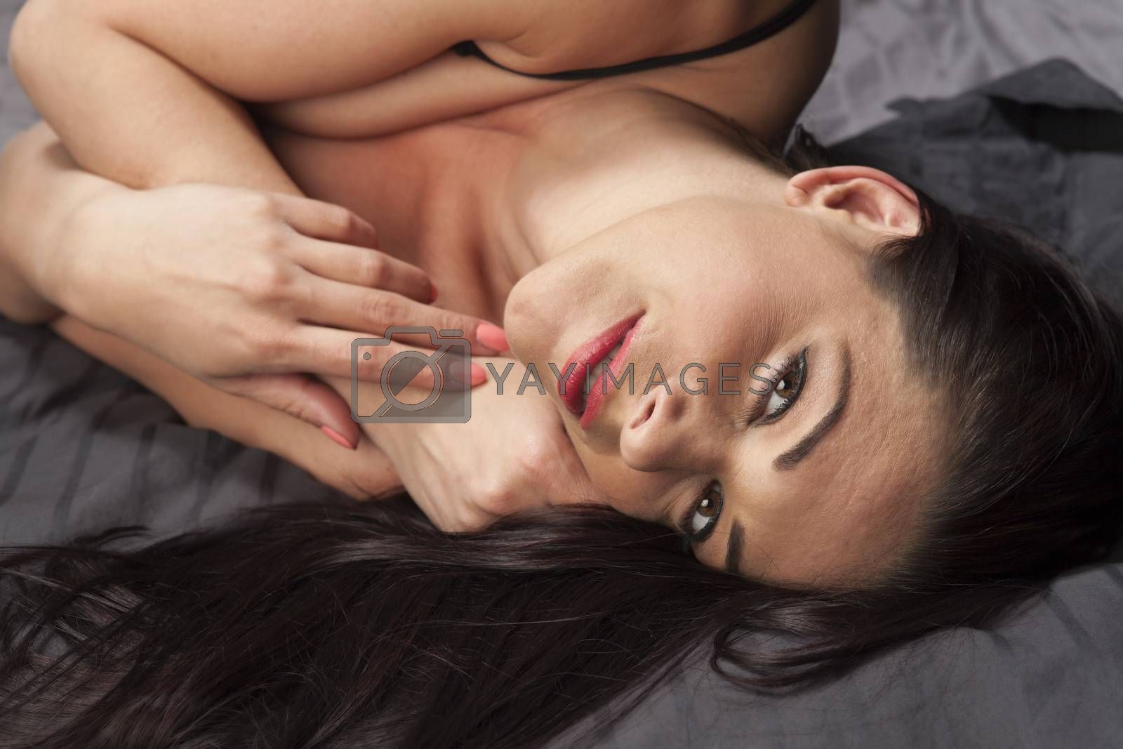 attractive woman in underwear
