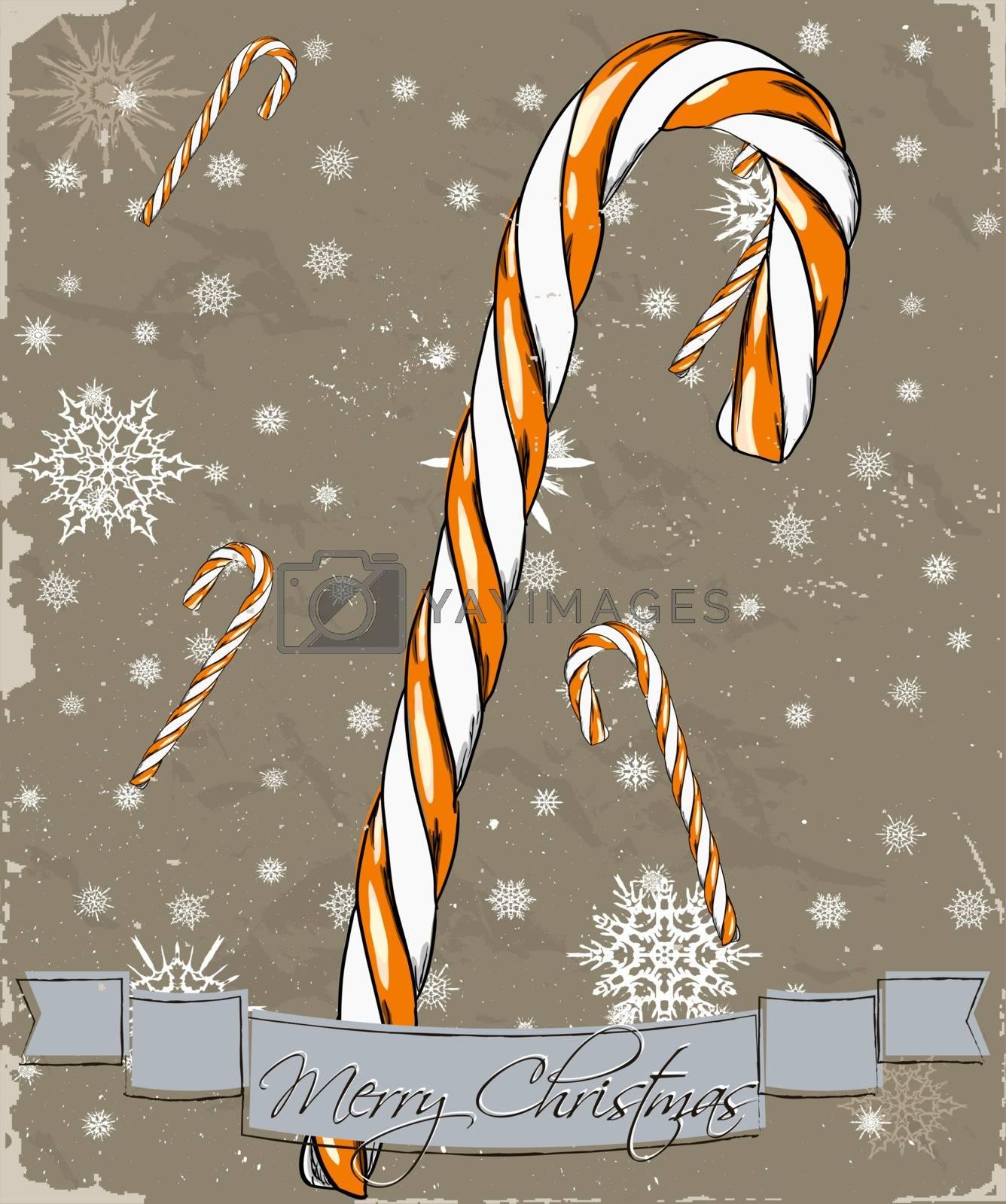 Christmas card. Vector illustration EPS8